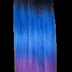 1-BLUE-LILAC OMBRE TRIO